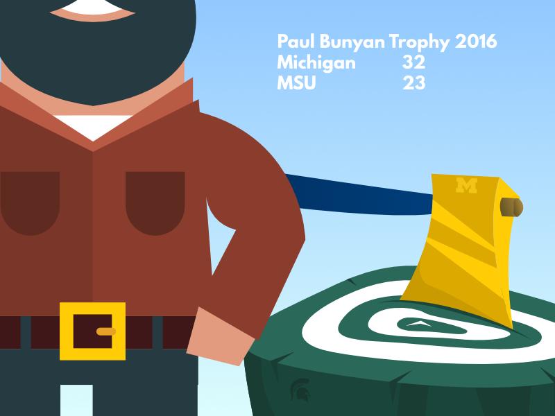 paul bunyan trophy 2016 � red bag media